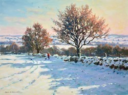 Snow Scene by James Preston -  sized 24x18 inches. Available from Whitewall Galleries